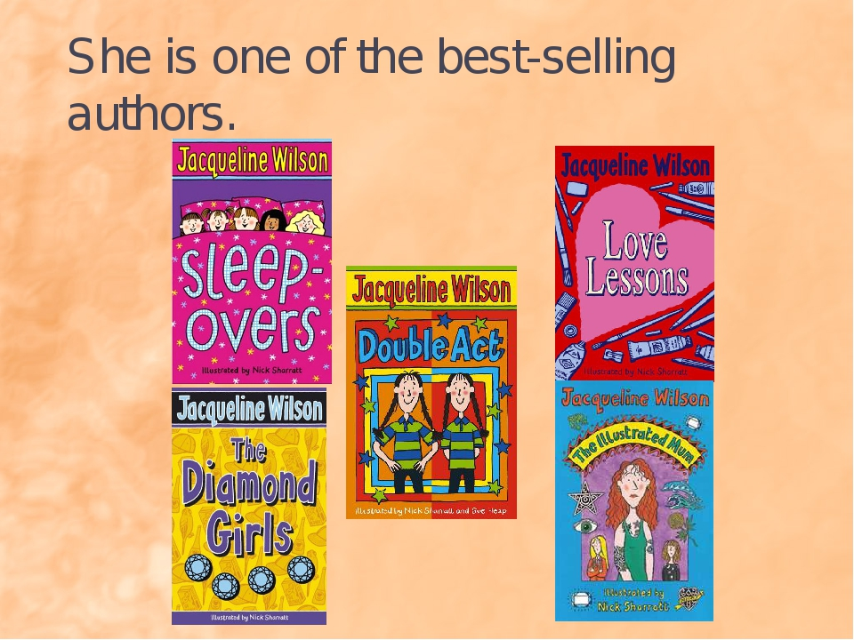 She is one of the best-selling authors.