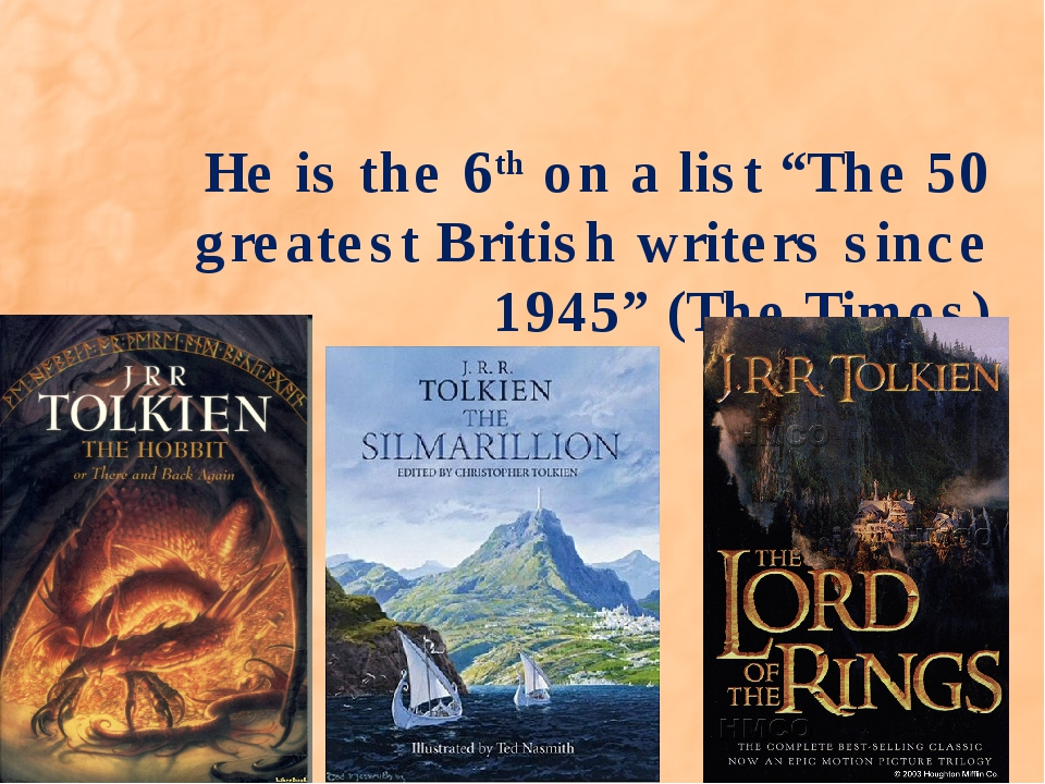 """He is the 6th on a list """"The 50 greatest British writers since 1945"""" (The Tim..."""