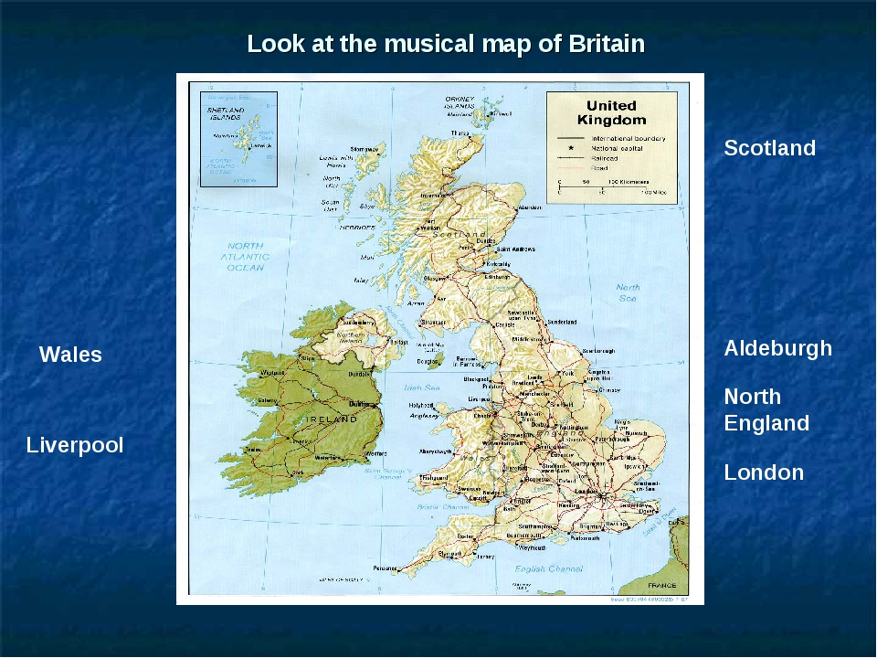 Look at the musical map of Britain Aldeburgh Scotland Wales London Liverpool...