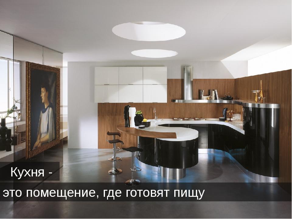 Кухня - это помещение, где готовят пищу