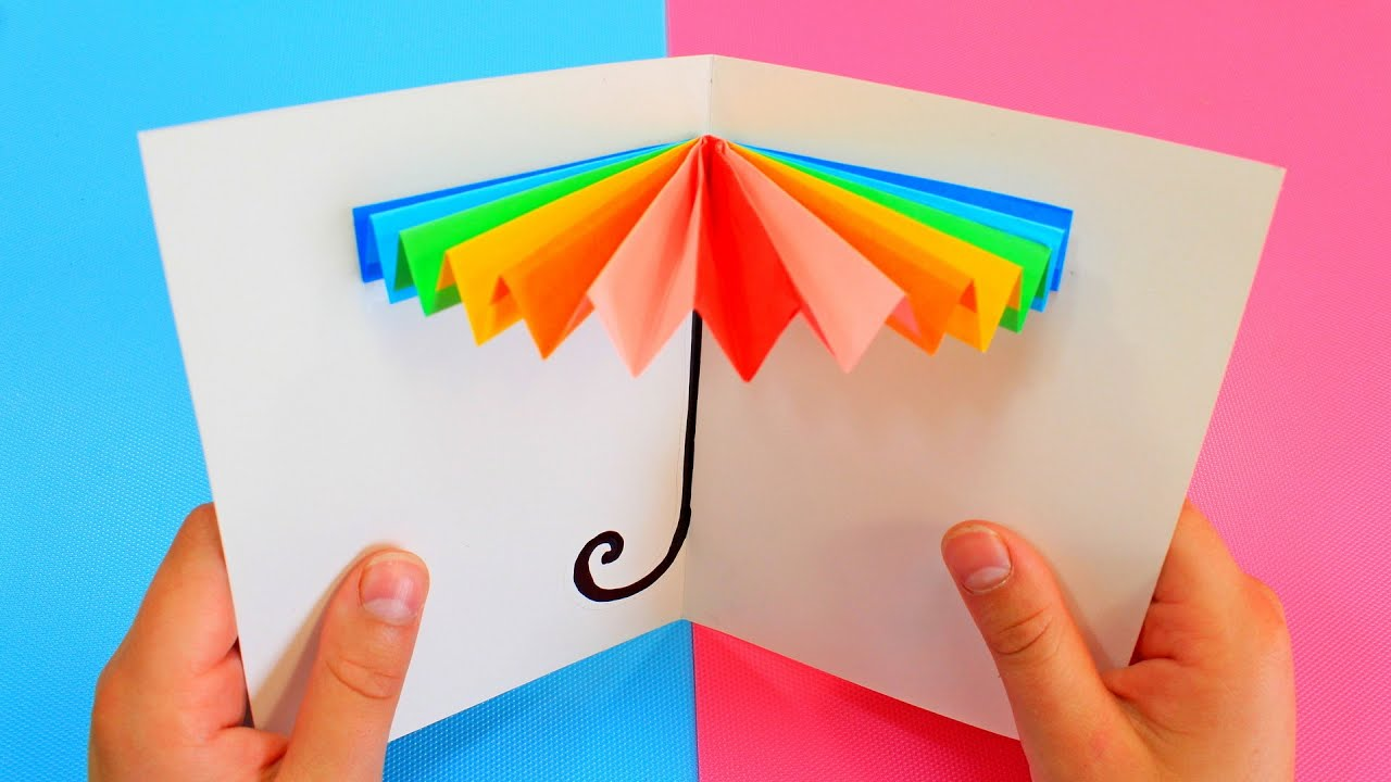 бумажная игрушка поздравительная открытка
