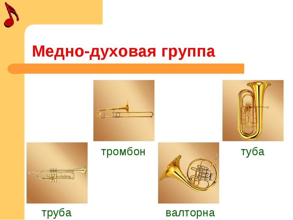 Медно-духовая группа труба тромбон валторна туба