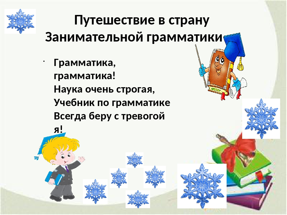 Путешествие в страну Занимательной грамматики Грамматика, грамматика! Наука о...