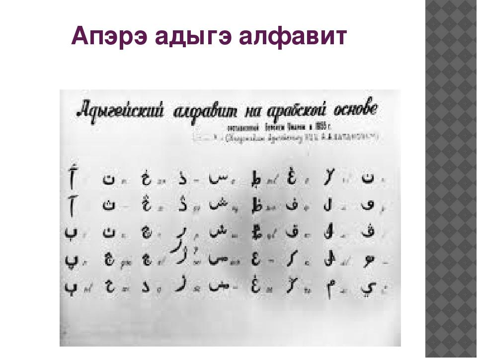 Апэрэ адыгэ алфавит