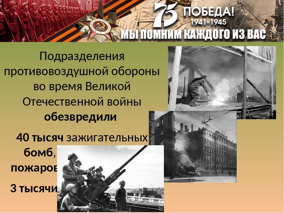 Подразделения противовоздушной обороны во время Великой Отечественной войны о...
