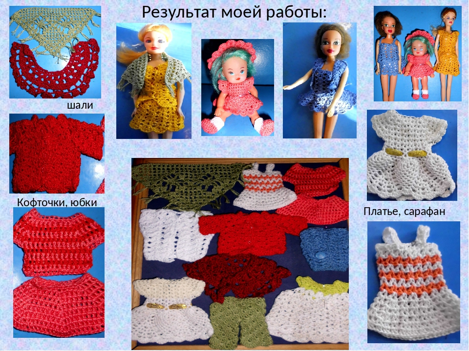 Проект На Тему Вязаное Платье Для Кукол
