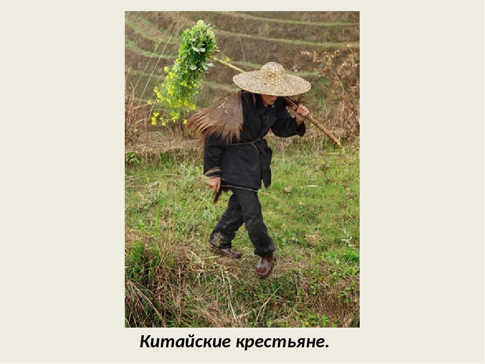 Китайские крестьяне.