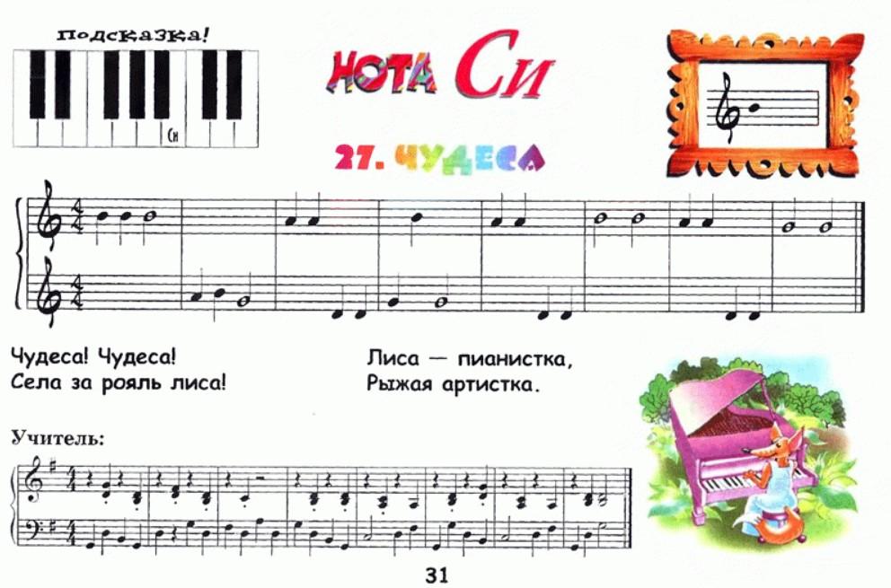 ноты пианино для начинающих картинки удочки