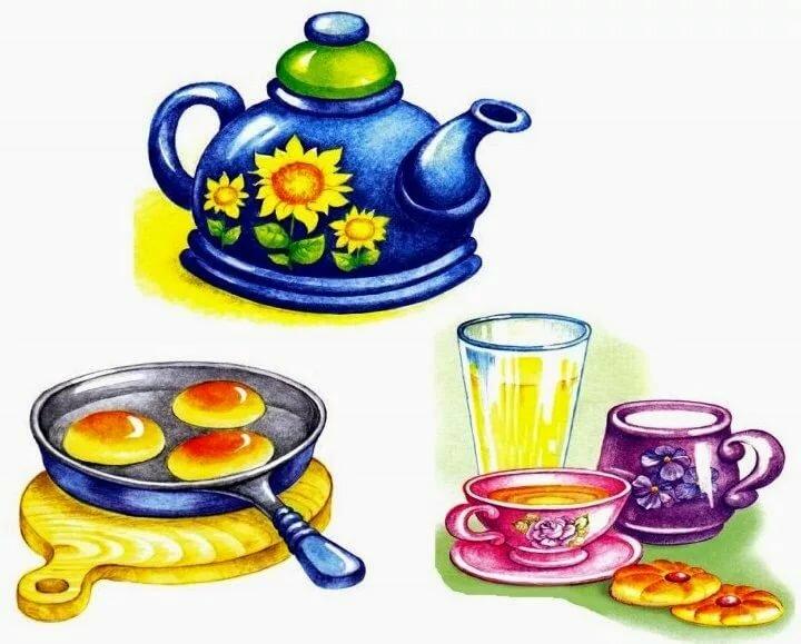 Картинки на обобщение посуда