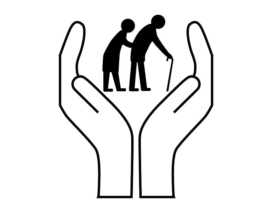 Эскиз поздравительной открытке ко дню пожилого человека