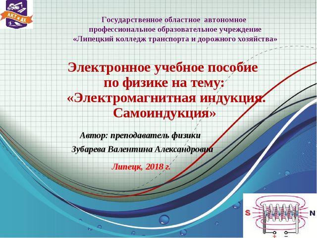 Электронное учебное пособие по физике на тему: «Электромагнитная индукция. С.