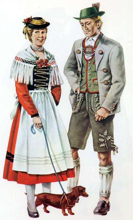 картинки национального немецкого костюма некоторых