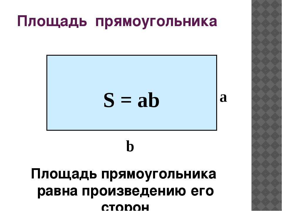 Открытку, картинки площадь прямоугольника
