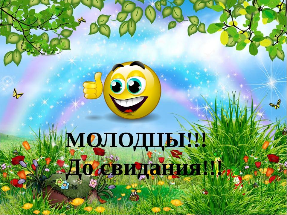 МОЛОДЦЫ!!! До свидания!!!